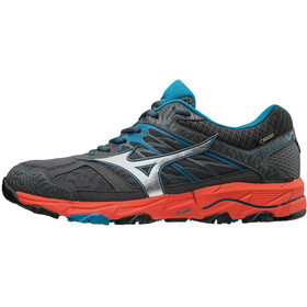 Mizuno Wave Mujin 5 GTX Running Shoes Men dark shadow/silver/cherry tomato